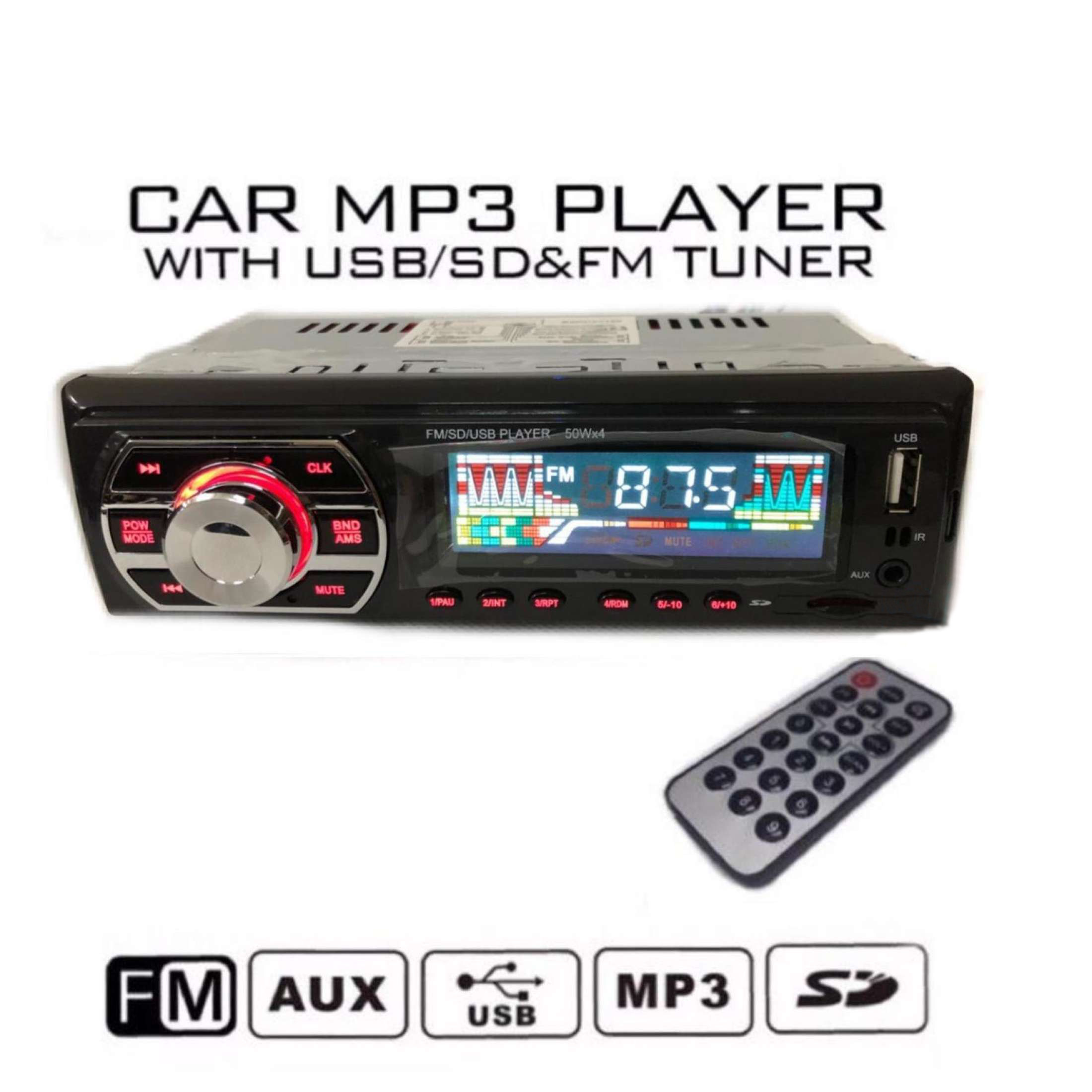 SINGLE DIN USB SD AUX FM RADIO CAR STEREO PLAYER WITH BLUETOOTH
