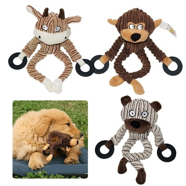 Pet Dog Toy Chew Squeaky Toys Plush Sound Animal Shape Pet Products