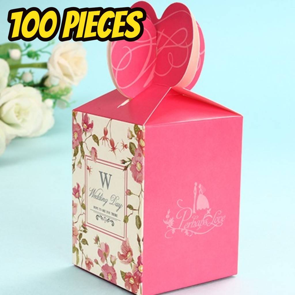 BEAUNIQUE Floral Print Wedding Favors Candy Box Gift Box Doorgift ...