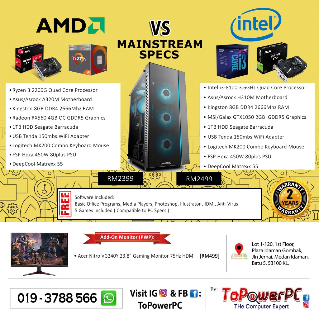 AMD vs Intel Mainstream PC for Gaming, Editing, Rendering and Designing