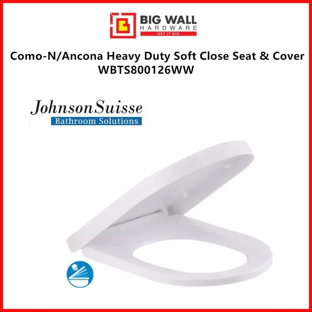 Johnson Suisse Como-N/Ancona Heavy Duty Soft Close Seat & Cover WBTS800126WW *Penutup Tandas (Big Wall Hardware)