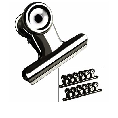 Stainless Steel Round Clips Iron Checkbook Long Tail Clips Stationery Utensils Clips 60MM