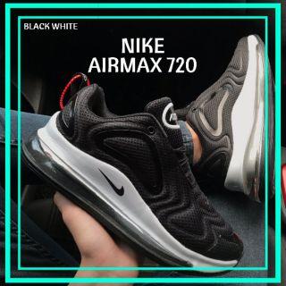 NIKE AIRMAX 720 BLACK WHITE MEN WOMEN SNEAKERS SPORT SHOES