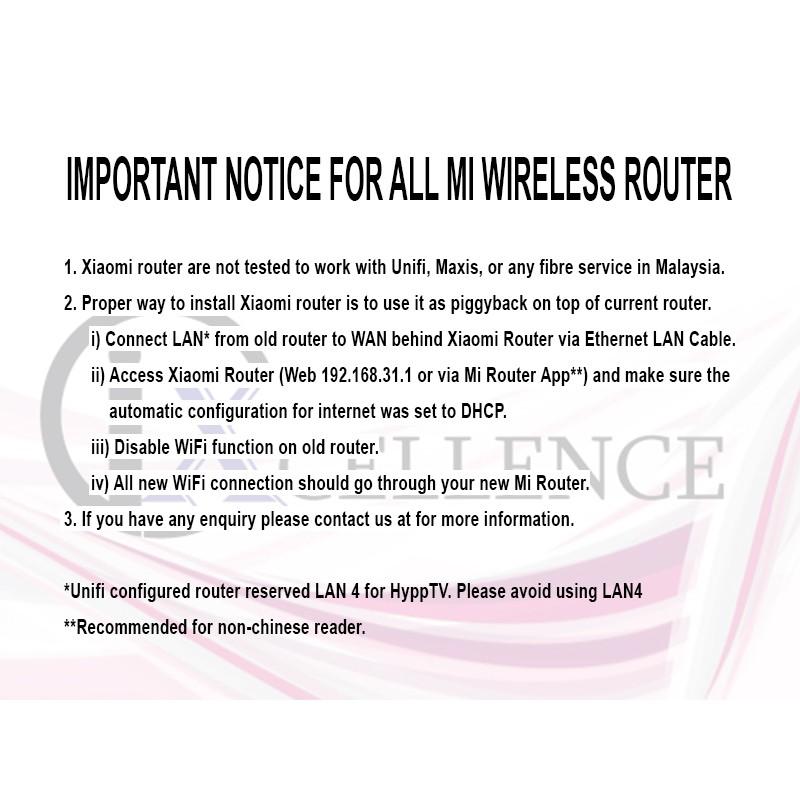 IX] Xiaomi Mi Home WiFi 4 Gen Wireless Router AC1200, Dual