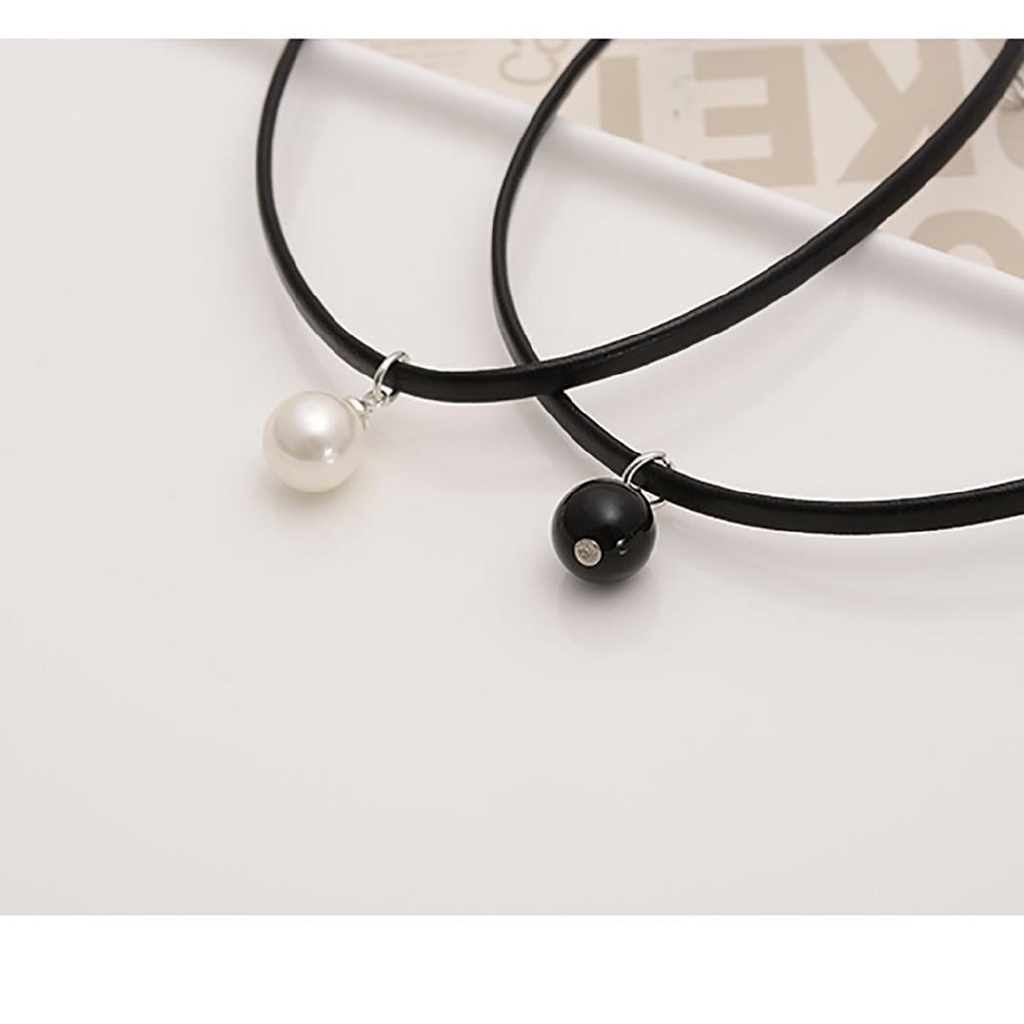 48dca39862ed3 Women Fashion Leather Pearl Pendant Choker Clavicular Chain Necklace Ch