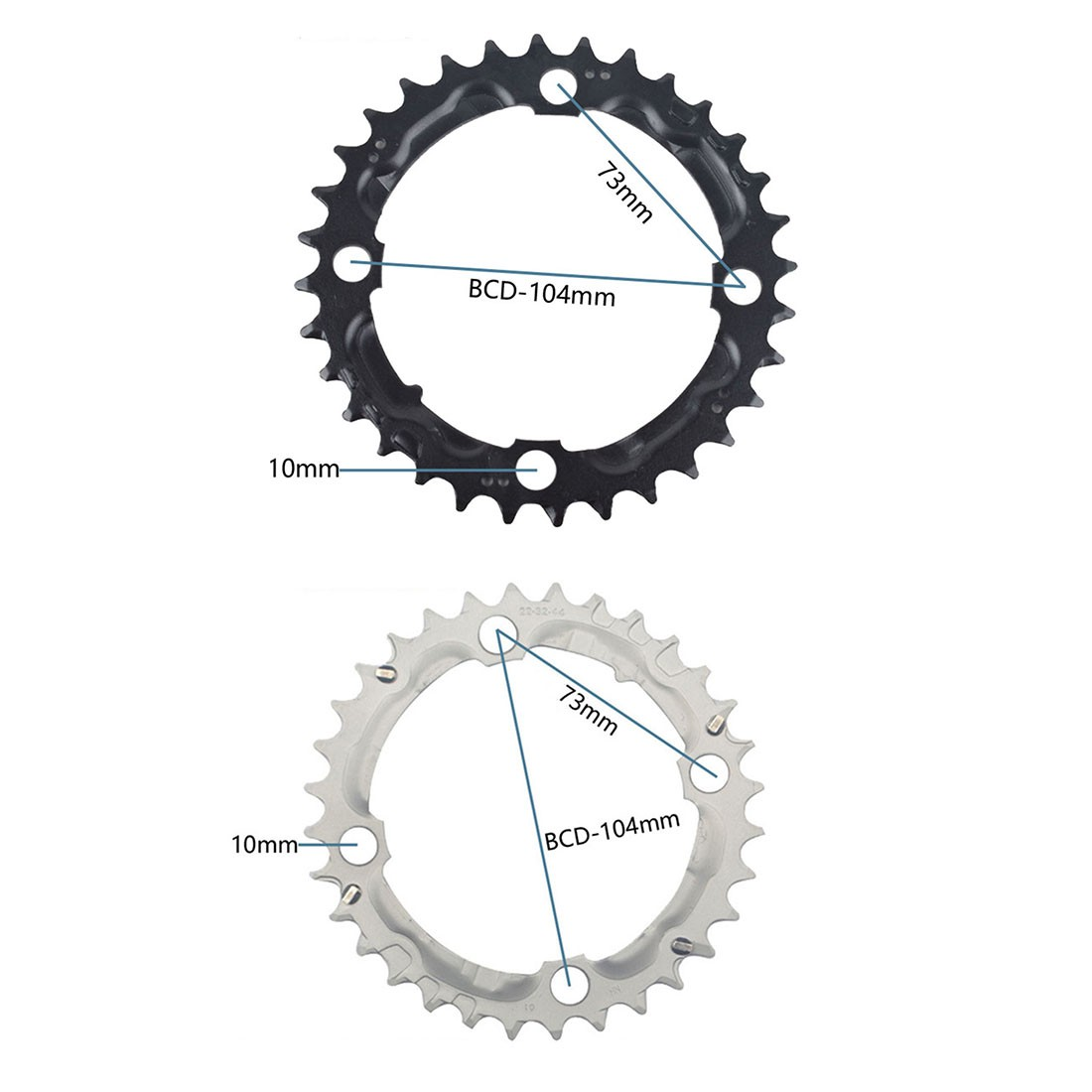 Details about  /Supply Chainring Wheel 96BCD Chain Circular Disc Components Replacement