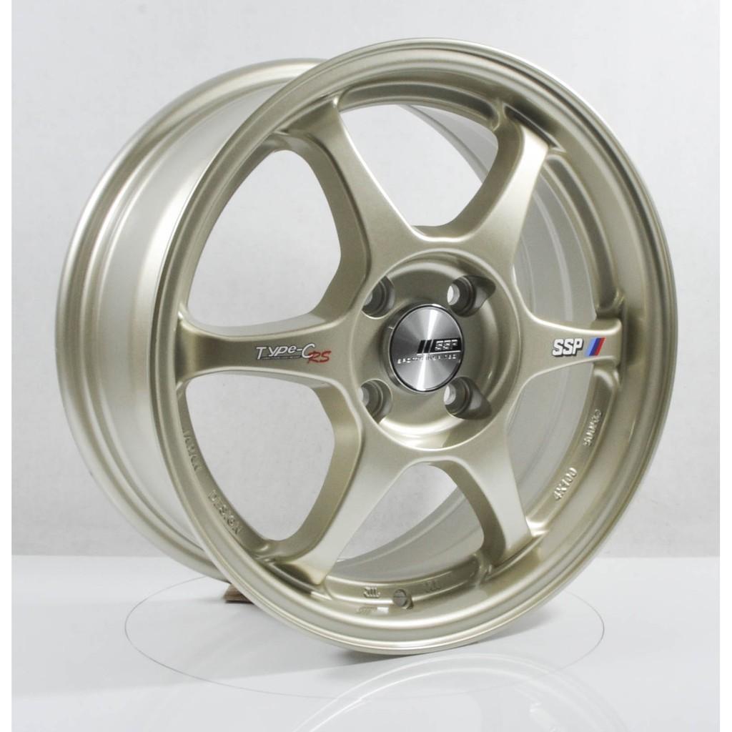 Rims For Cheap >> Ssr Type C 15 Inch 4x100 Et38 Car Sport Rims Cheap Wheels Light Gold Gunmetal T293