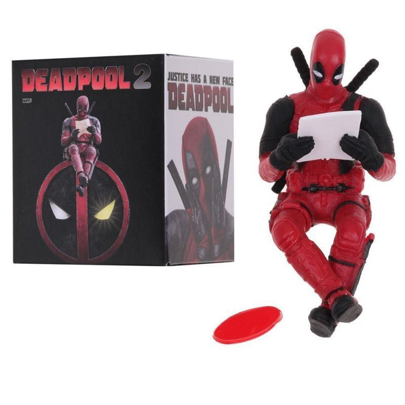 Marvel X-Men Deadpool 2 Dead Pool Sitting Pose Mini Cute Action Figure Toy Gift