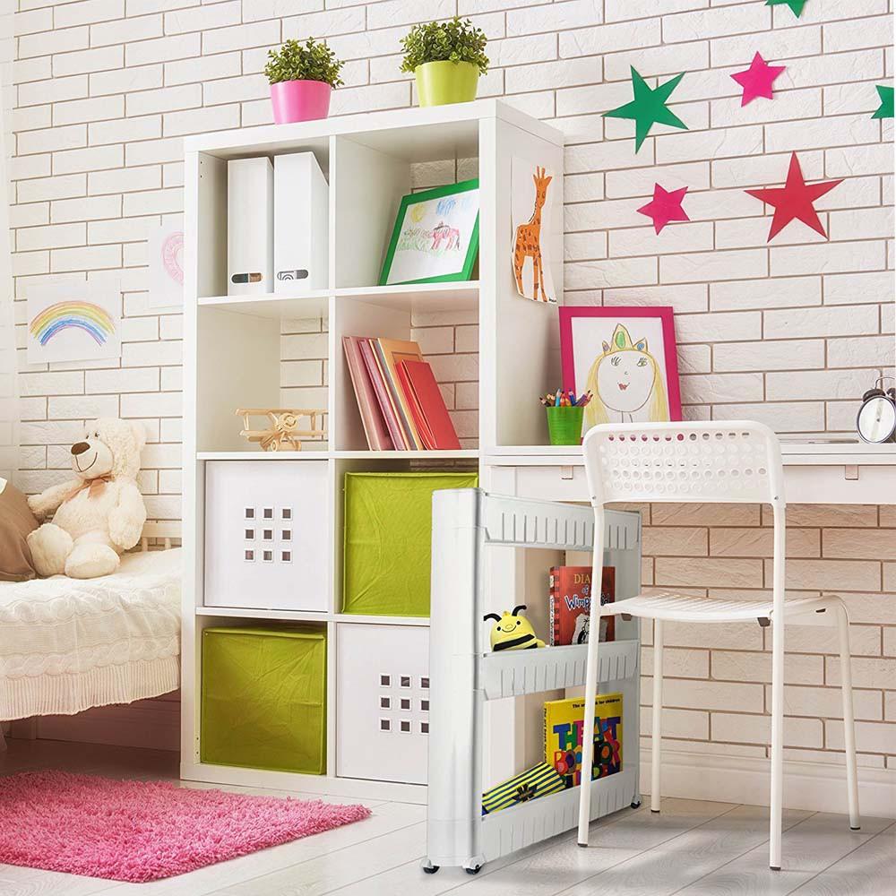 🔥Ready Stock 🔥Original Delly Shelf Kitchen Toilet Home living 3 4 LAYER Bottle Rack Trolley Slim Storage Cart Sugar a