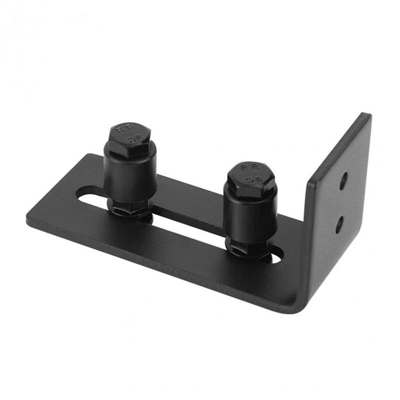 Color: Black Sliding Door Guide Stay Roller Floor Roller Guide Door Hardware 1Pc Door Guide Adjustable Wall Mount Heavy Duty Door Accessory