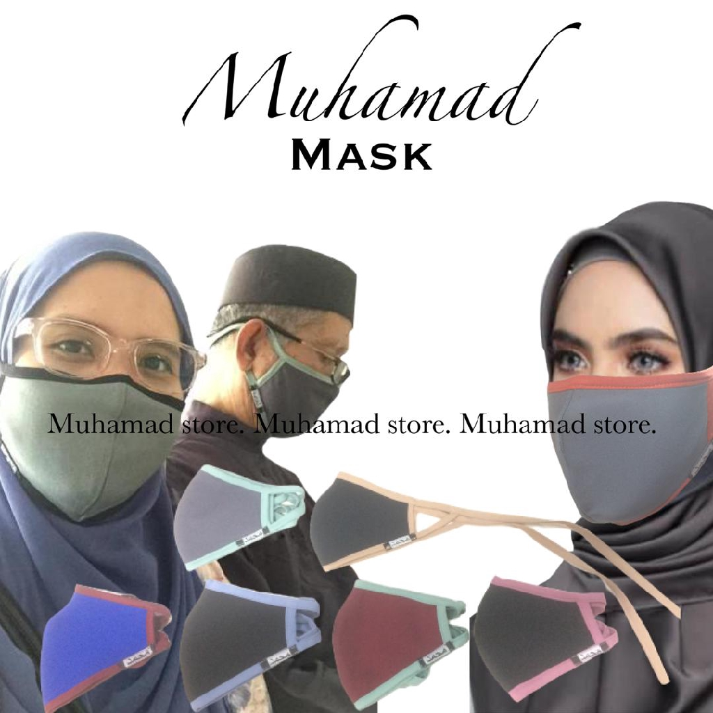 MUHAMAD MASK TRAVEL FREE SIZE WASHABLE (UNISEX)