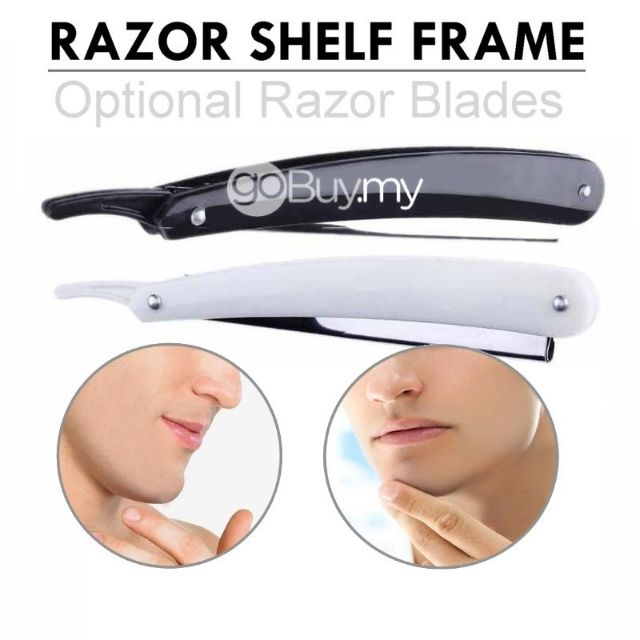 Blade Folding Straight Razor Shelf Frame Optional Blades