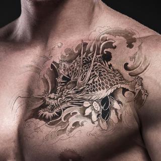 2019 Big Chest Tattoo Sticker Temporary Tattoo Waterproof Sticker Four Styles Man Shopee Malaysia