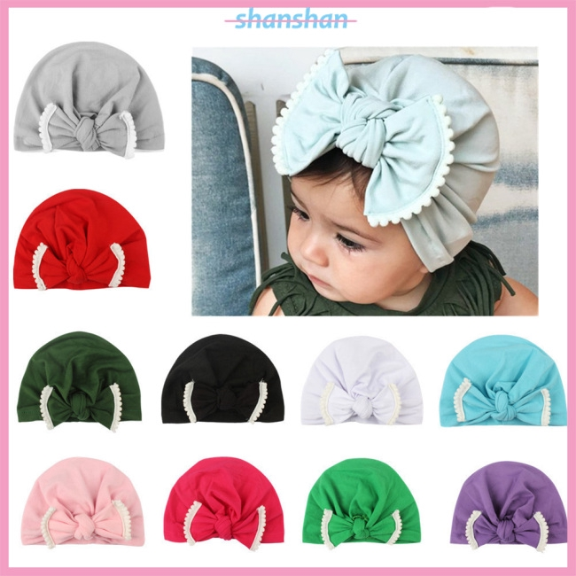 Girls' Baby Clothing Childrens Winter Hat Toddler Baby Hats For Girls Leopard Big Bowknot Cotton Newborn Hospital Caps Christmas Gift High Resilience Hats & Caps