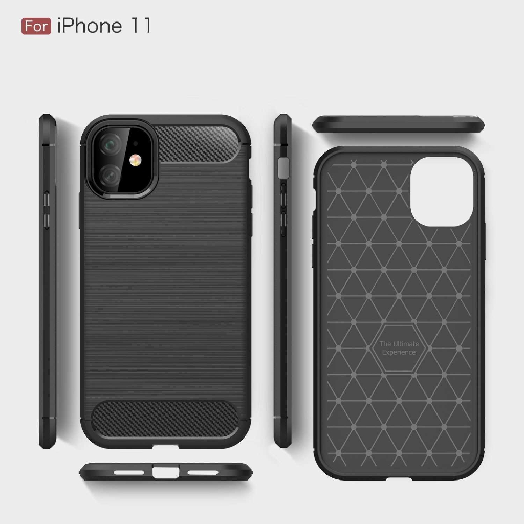 TPU Carbon Fiber Phone Protective Case Non-slip Anti Fingerprints Anti Scratch Phone Case Protection Shell Compatible w