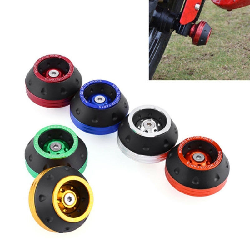 Red CNC Front Fork Frame Sliders Wheel Crash Protector Aluminum Fork Wheel Frame Sliders Crash Pads Motorbike Falling Protection Scooter Moped