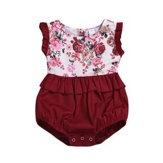 17cf01bfa5cc9 Baby Girl Flower Little Big Sister Romper Dress Sleeveless Cotton ...