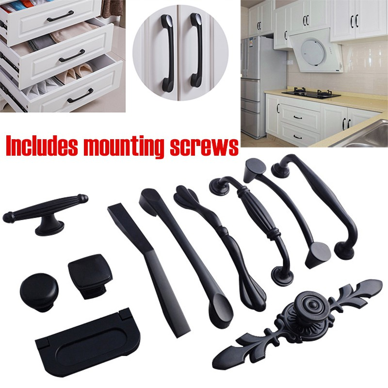 Matte Black Kitchen Cabinet Handle Door, Kitchen Cabinet Handles Black
