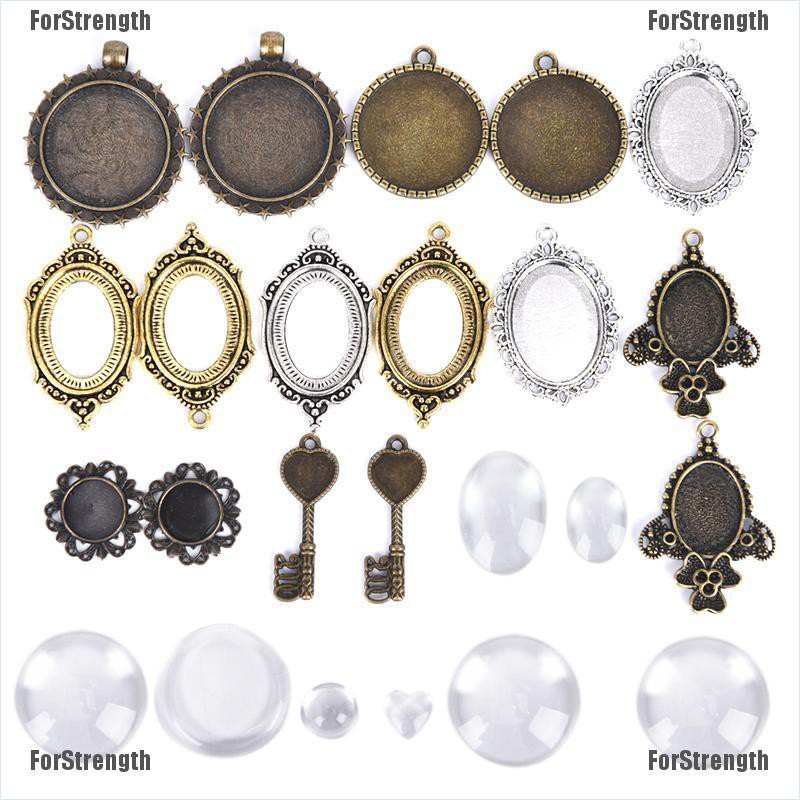 10pcs White Enamel Round Charm Pendants Alloy Beads Jewelry Findings 2.4*2.8cm