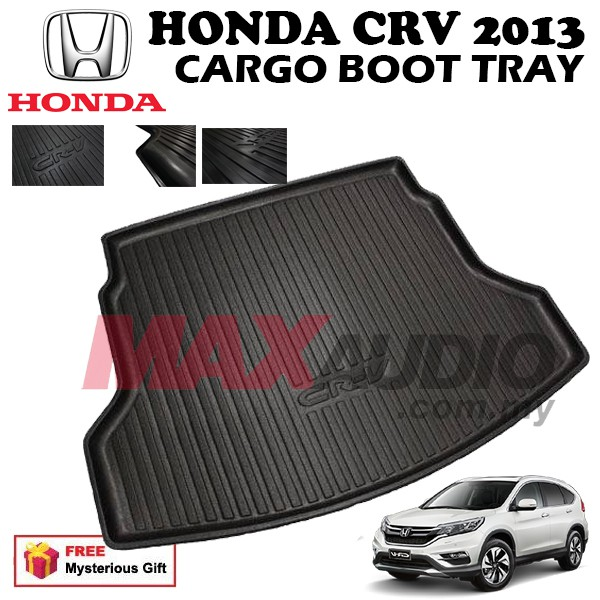 [FREE Gift] HONDA CRV 13-16 ABS RUBBER NON SLIP REAR TRUNK BOOT CARGO TRAY