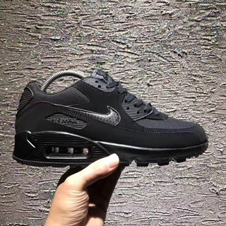 Classic Grey Black Nike Air Max 90 Winter Mens Sport Shoes