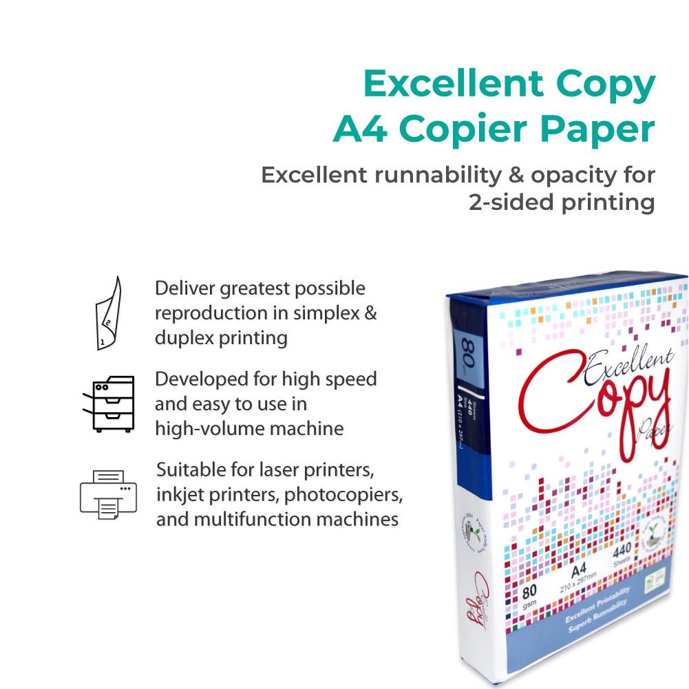 Excellent Copy A4 Paper (80gsm x 440's x 10 Ream)