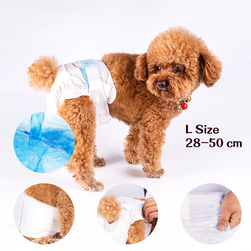 GDeal Female Pets Dog Diapers Aunt Pants Comfortable Strong Water Absorber Dog Diapers 10pcs S M L Size