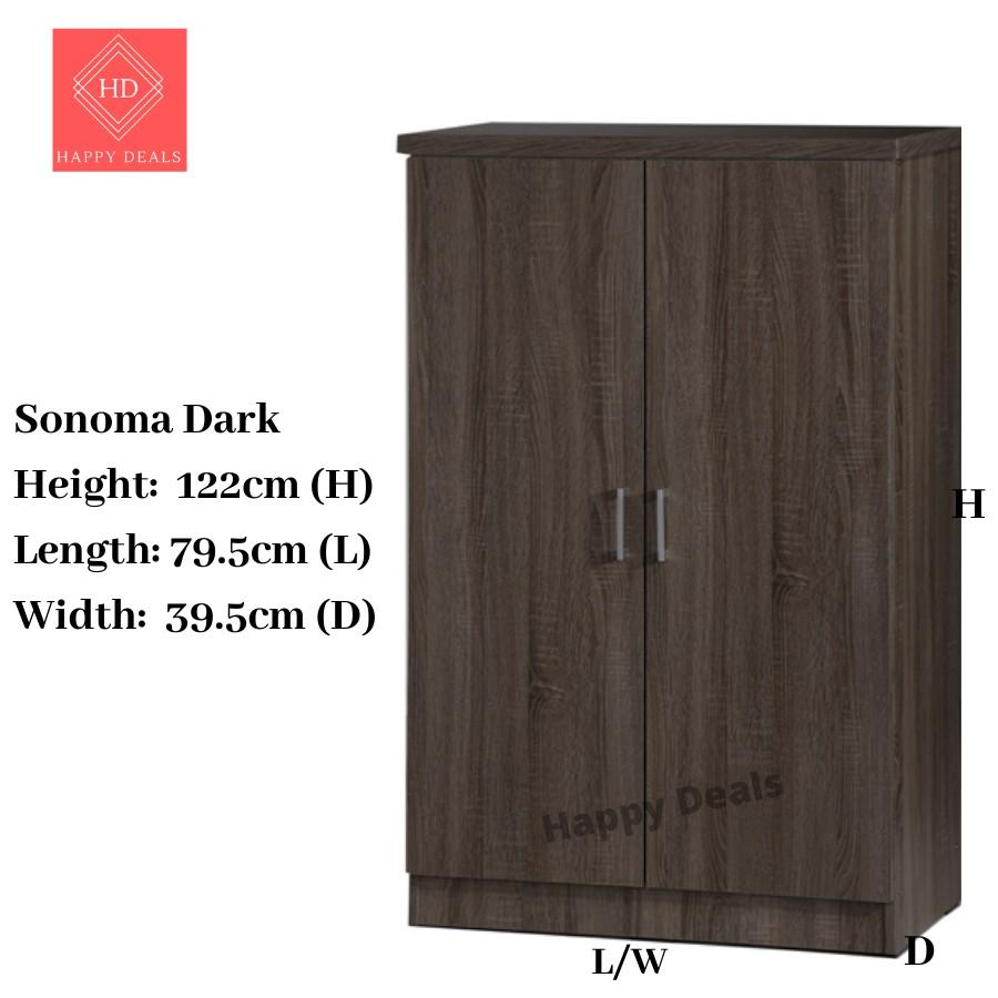HappyDeals DIY Premium 2 Doors  6 Compartments Wardrobe / Almari Berpintu /High Quality Wardrobe SU 3599  SU 3588