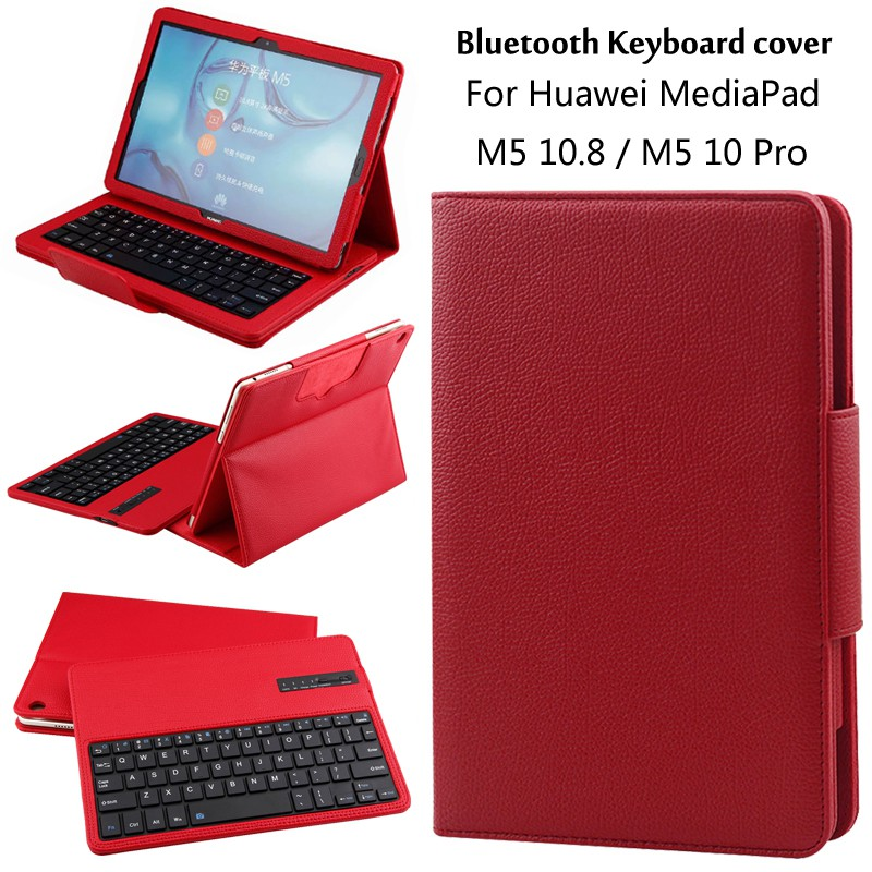 Huawei Mediapad M5 Pro 10 8 Keyboard With Stand Flip Leather Case