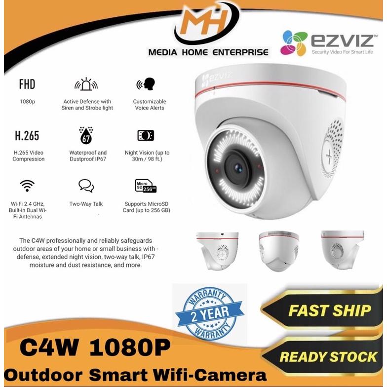 Ezviz Outdoor Wireless Dome Camera CS-CV228-A0- 3C2WFR(C4W) 1080P 4mm
