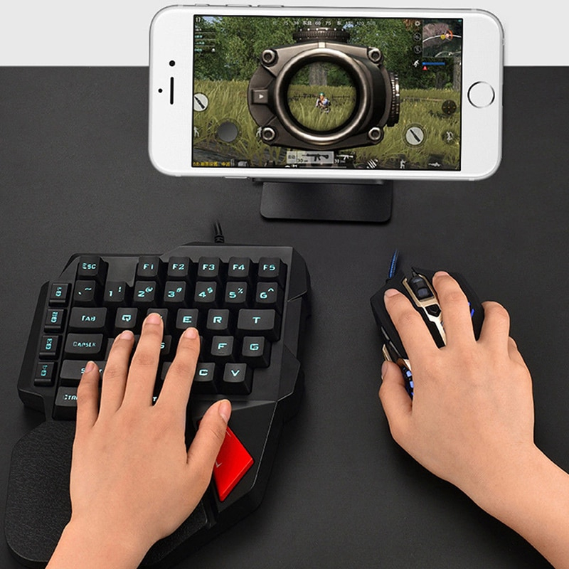 Gaming Keyboard Mechanical One-Handed Keyboard Mobile Game Left Hand  Keyboard