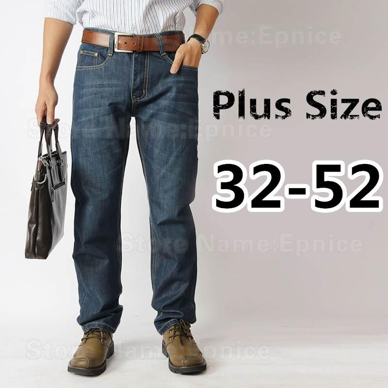 0e53cc4b Plus Size Men's Jeans Straight Long Seluar Jean Big Large Saiz Smart Casual  Pant