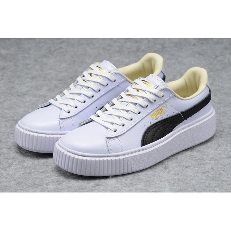 uk availability 92c80 c9896 Original Ready Stock Genuine PUMA rihanna Suede Platform creeper Women's  shoes WHITE