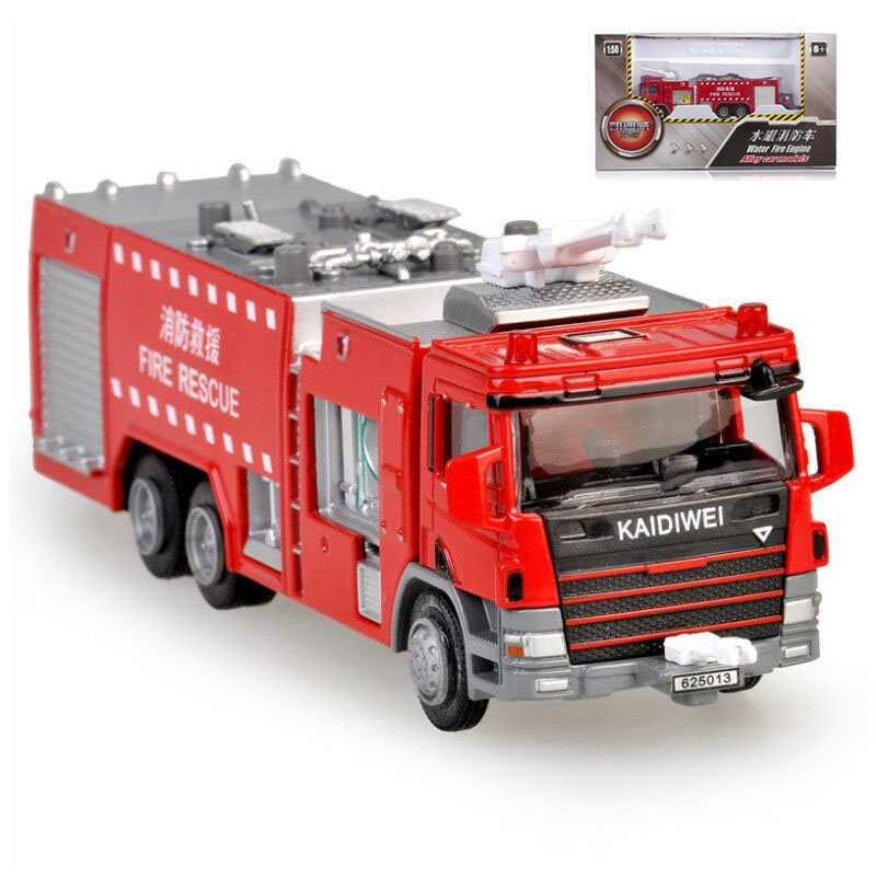 Friendly Kaidi Wei Alloy Engineering Vehicle Model 1 Toys & Hobbies 50 Water Tank Ladder Climbing Fire Truck Toy Car Fire Truck Fire Truck Fire Truck