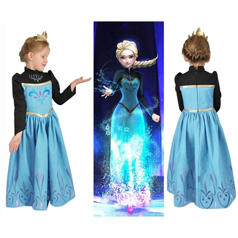 Gaun Princess Dress Elsa Frozen Sofia Baju Budak Clothing Frozen Costume.  af0a8ea0c1