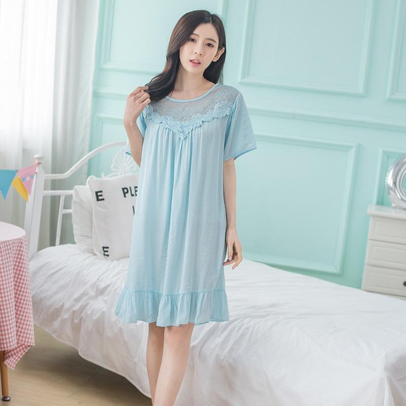 56380fe980 JiaHuiGe Summer Ladies Night Sleepwear Women Sexy Lingerie Nightdress Sexy  Dress