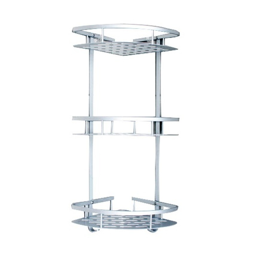 Strong adhesive wall mounted corner Shelf without drilling (3 tiers)