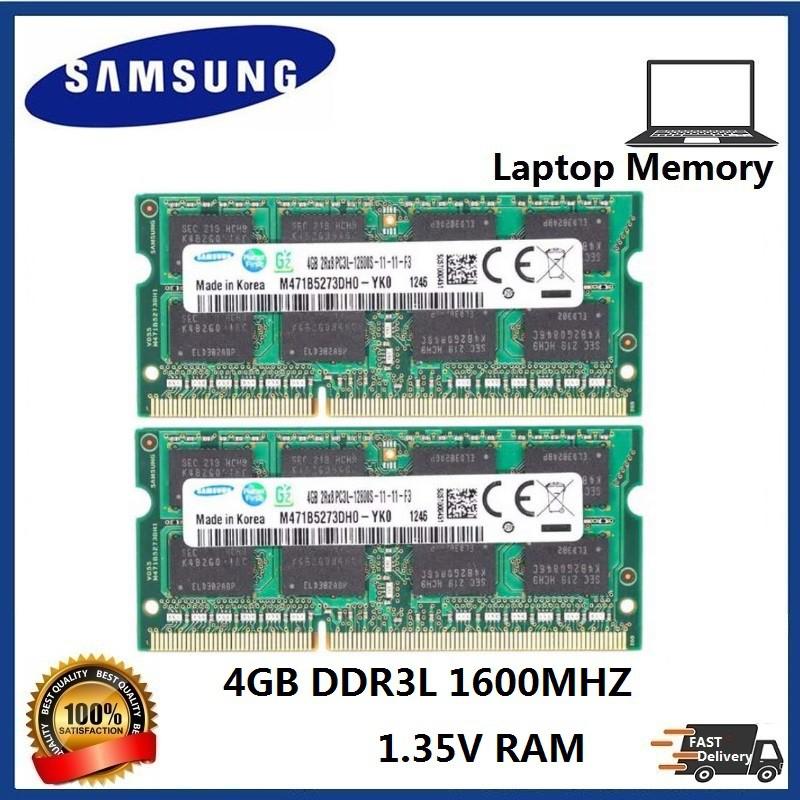 New Samsung 8GB 2X 4GB PC3-12800 DDR3-1600mhz 204pin  Laptop Memory Ram NON-ECC