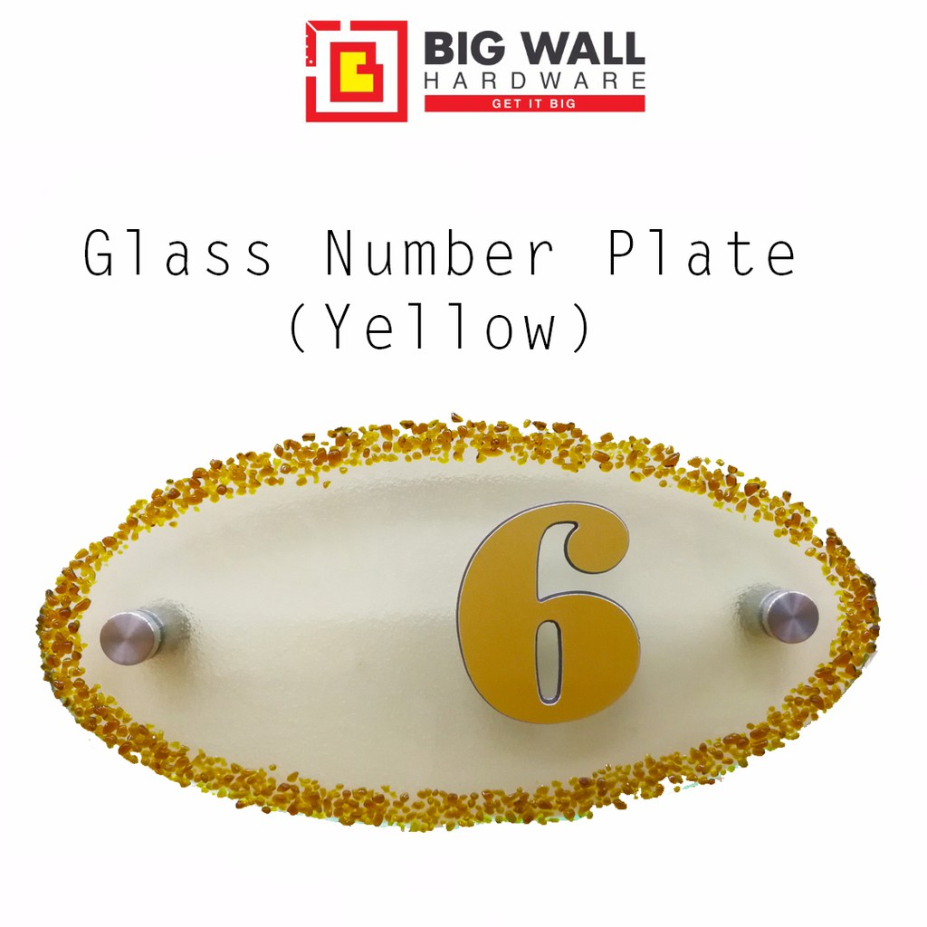 Glass Number Plate
