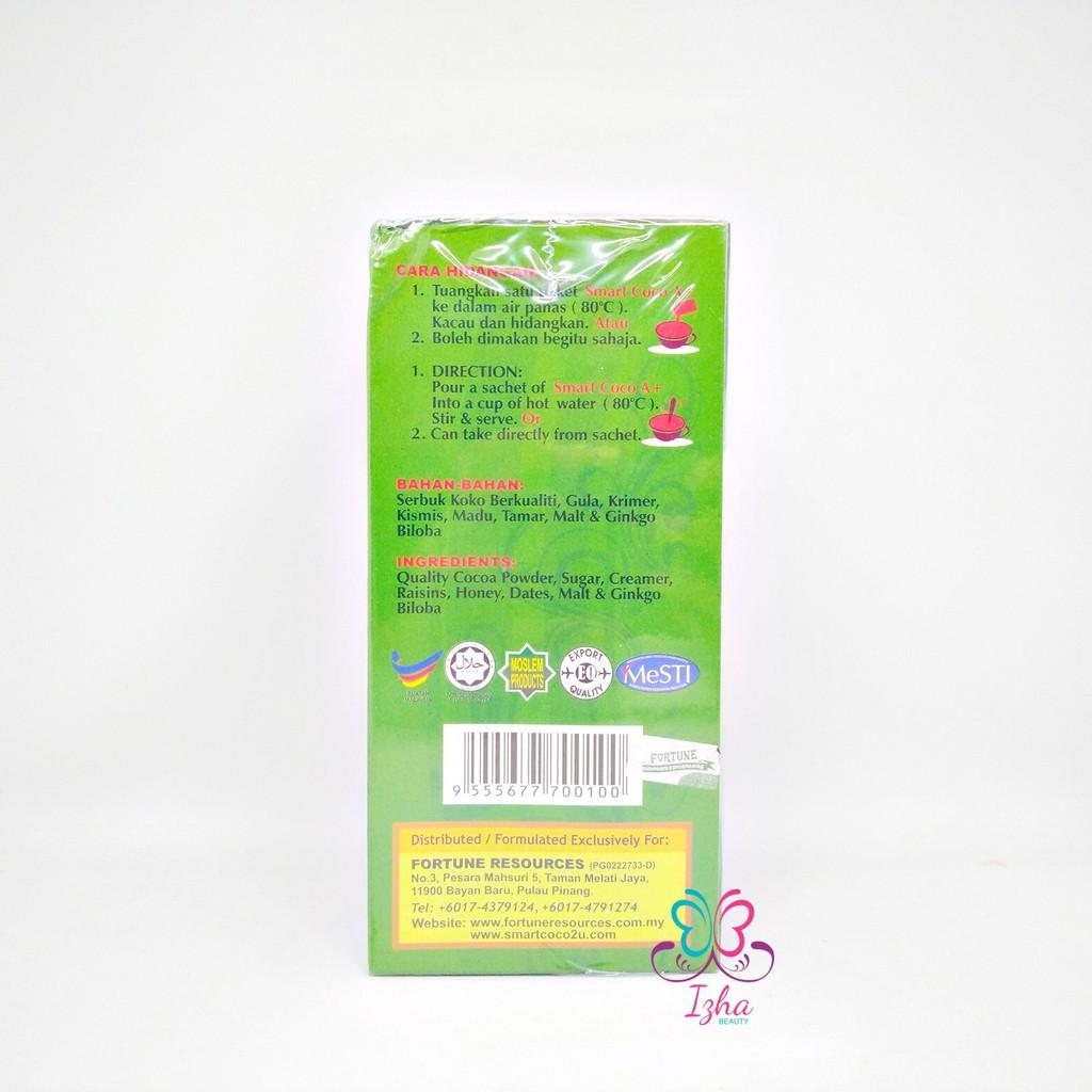 [FORTUNE] Minuman Smart Coco A+ Kurang Gula (Less Sugar) - 15 sachet x 25g