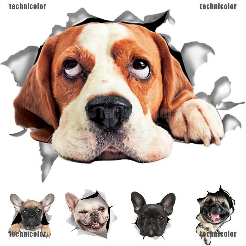 Cartoon Dog Puppy Pet Cute Car Die Cut Window Wall Vinyl Decal Sticker