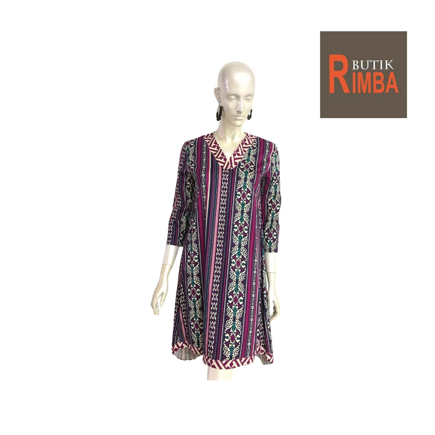 MODERN DRESS BATIK COTTON STRETCHABLE KNEE LENGTH FREE SIZE FOR FASHIONABLE WOMEN IN MIND 09