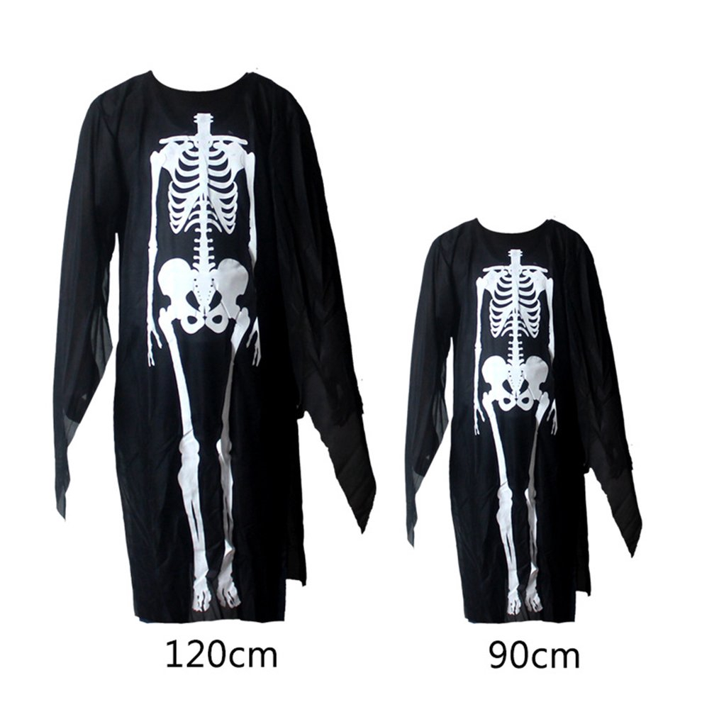 Skeleton Ghost Devil Mask Halloween Ghost Costume Party Adults Clothes Scream