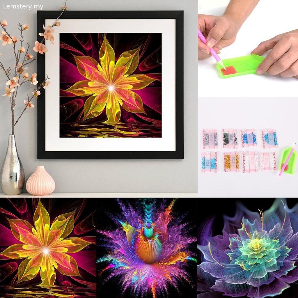 2d7e1f19e20d1 Le DIY 5D Rhinestone Flower Embroidery Painting Cross Stitch Kit Home