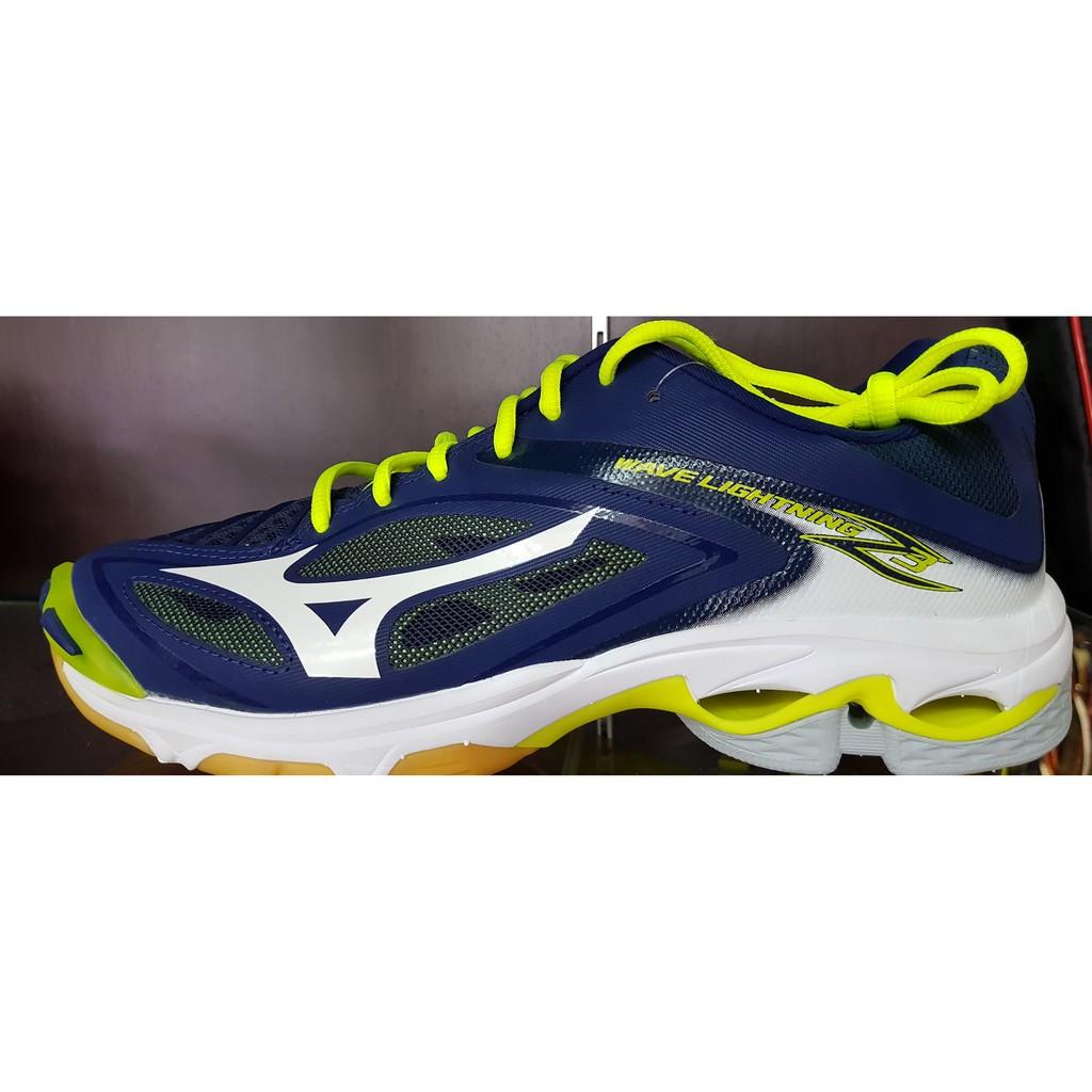 Mizuno WAVE LIGHTNING Z4 Black Yellow Men Volleyball Shoes V1GA180005