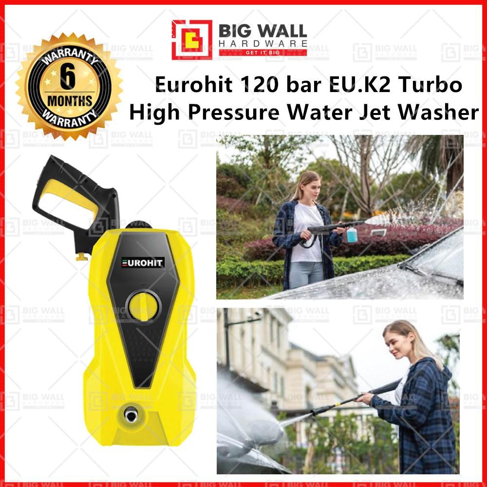 Eurohit 1500W 120 bar EU.K2 Extra High Pressure Water Jet Washer High Pressure Cleaner (Big Wall Hardware)