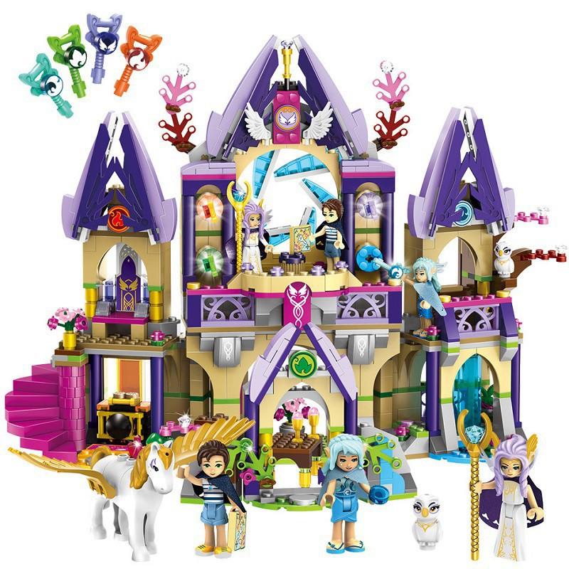 Ultramoderne 817pcs Girls Sky Castle Dragon Elves Figures Compatible Lego UI-36