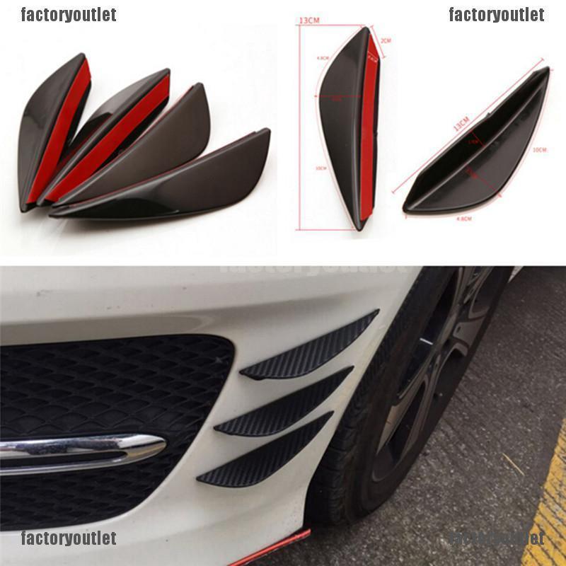 Universal Car Front Bumper Lip Splitter Body Spoiler Canards Refit Kits BlaPRUK