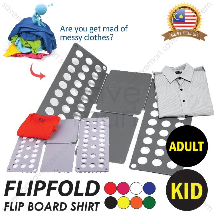 Folding Board Shirt Flip Fold Lazy DIY Fast Clothes Folder ...
