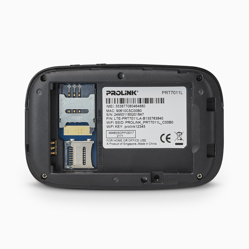 PROLiNK PRT7011L 4G Sim Card LTE WiFi 300Mbps Hotspot MiFi Portable